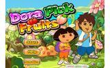 Дора собирает фрукты