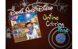 Дора и Диего раскраски онлайн