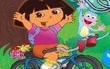 Дора и велосипед