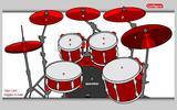 Настоящая барабанная установка