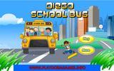 Диего бежит за школьным автобусом