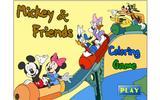 Микки и друзья - раскраска