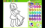 Раскраска: девочка с щенком