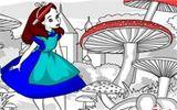 Алиса в стране чудес - Раскраска онлайн