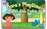 Даша играет с близнецами