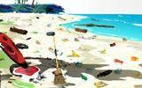 Очистка лагерного пляжа
