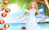 Прогулка ангела на пляже