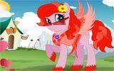 Одень маленькую красную пони