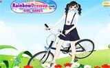 Нарядите велосипедистку